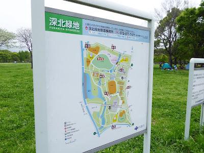 深北緑地の園内マップ