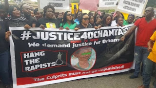 CAMPAIGNERS STORM ABUJA FOR 13-YEAR-OLD OCHANYA SUPPOSEDLY RAPED TO DEATH BY FATHER AND SON IN BENUE