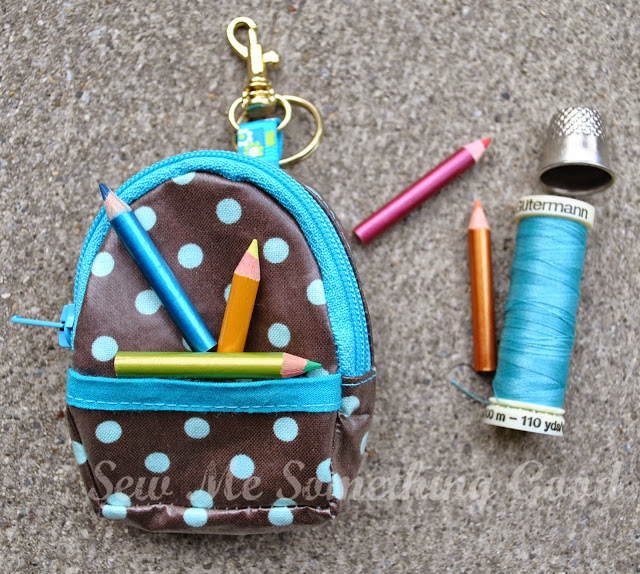 Mini Backpack Coin Purse & Keychain Pattern