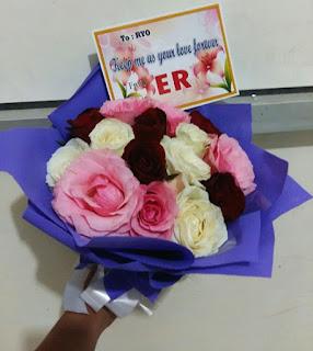 bunga buket mawar lamongan ibu tin