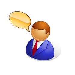 avatar d'un homme avec une bulle
