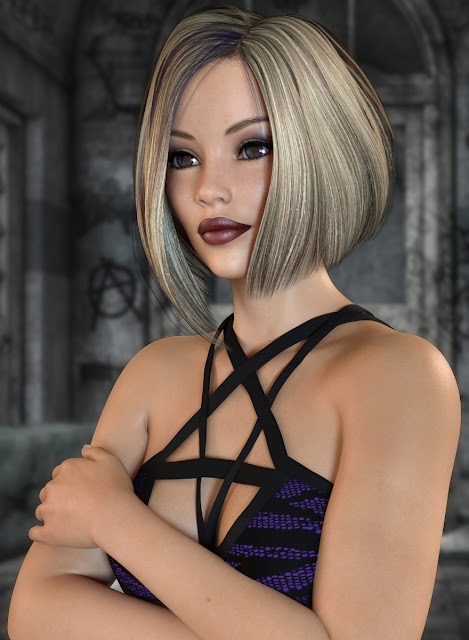 Kaylessa Hair for Genesis 3 and 8 Female