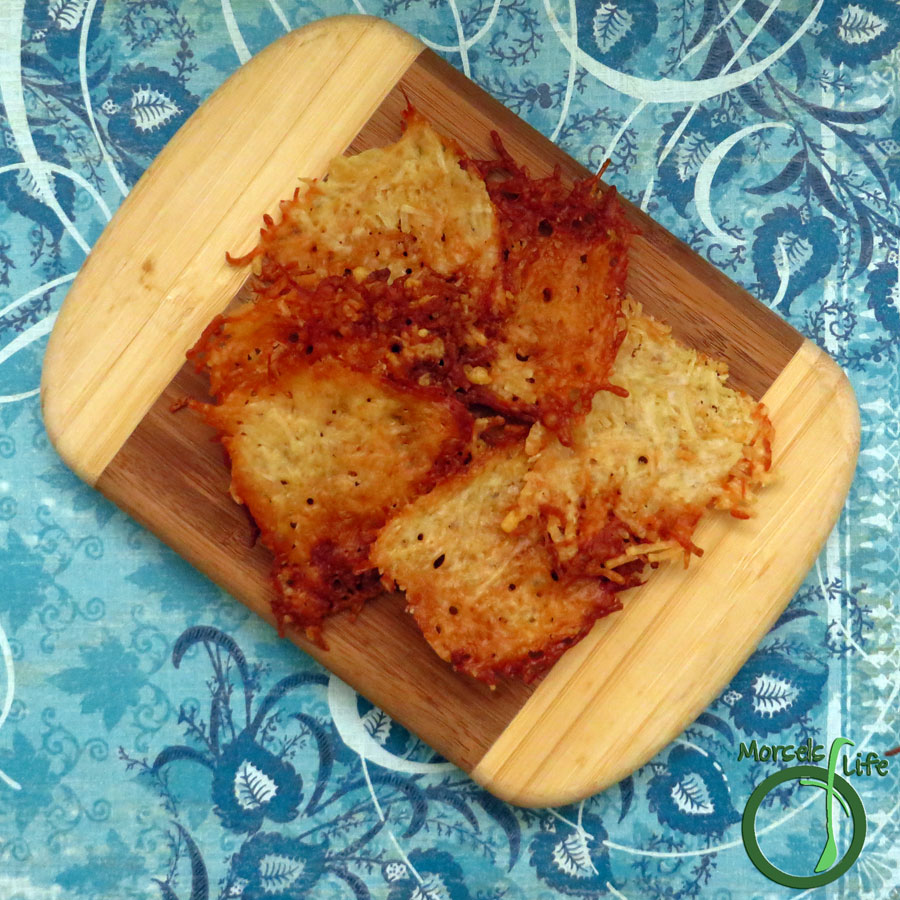 Morsels of Life - Parmesan Crisps - Got some Parmesan cheese and 5 minutes? You can make yourself some Parmesan crisps! Great as crackers or with dip.