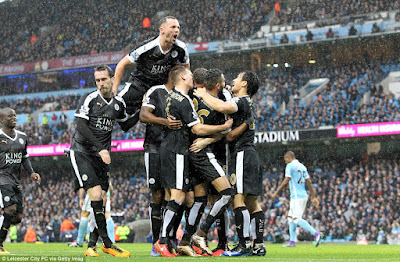 leicester city beat manchester city 3 - 1