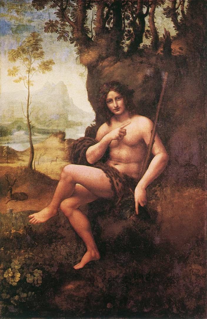 São João no Deserto - Leonardo Da Vinci | O maior artista de todos os tempos