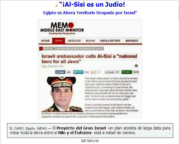 Resultado de imagen de AL SISI de Egipto es judío