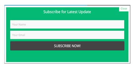 Cara Membuat Widget Subscribe Blog Melayang