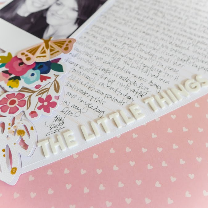 new The Little Things Layout with Paige Evans Silhouette Cut File by Jamie Pate | @jamiepate