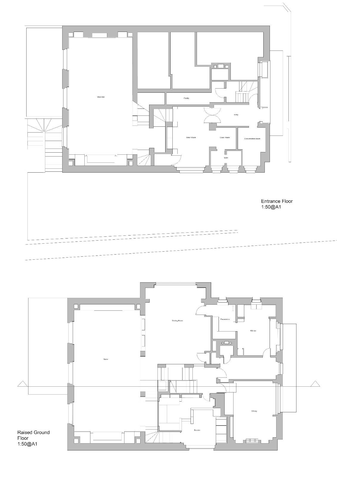 Arch 1201 Tongzhuo Xiao Week 1 Villa Muller Drawings