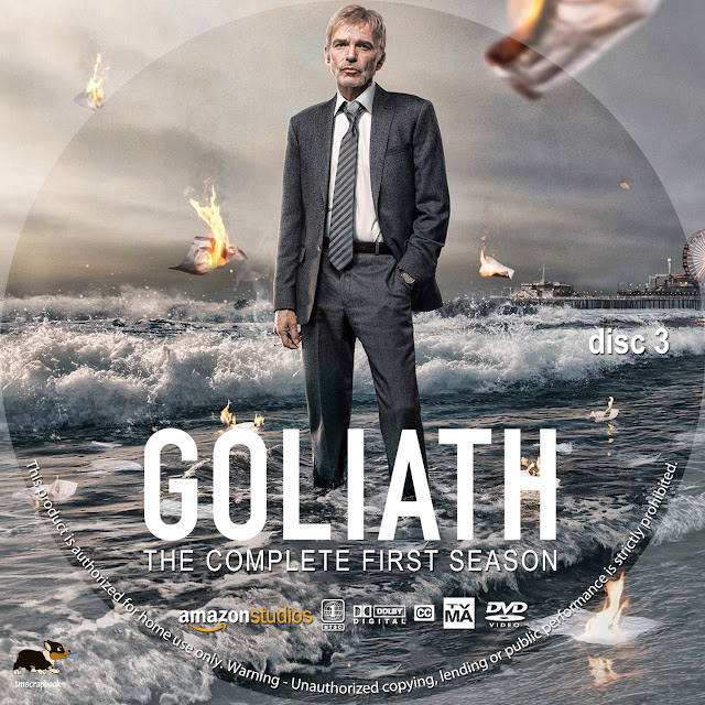 Goliath Season 1 Disc 3 DVD Label