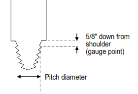 drill pipe connections pitch diameter