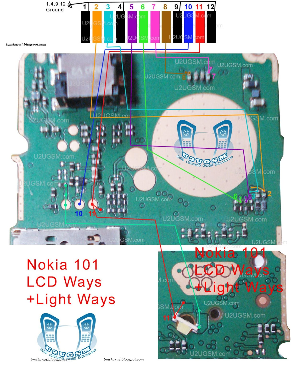 Nokia 101 Lcd Blank Display Ways Jumpers Porblem Solution