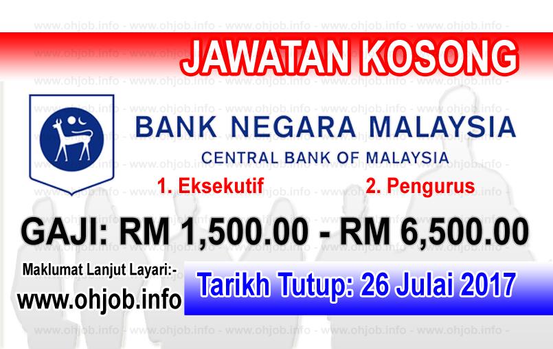 Jawatan Kerja Kosong Bank Negara Malaysia - BNM logo www.ohjob.info julai 2017