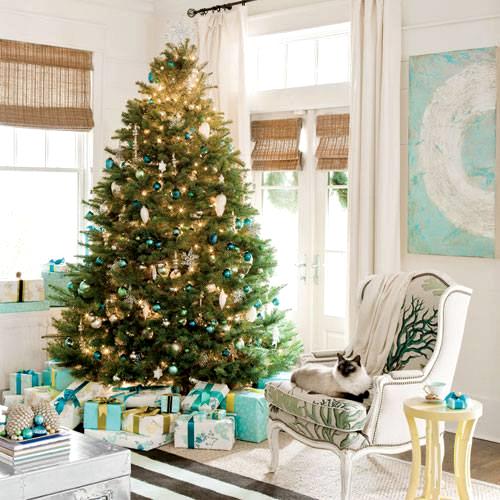 aqua Christmas decor