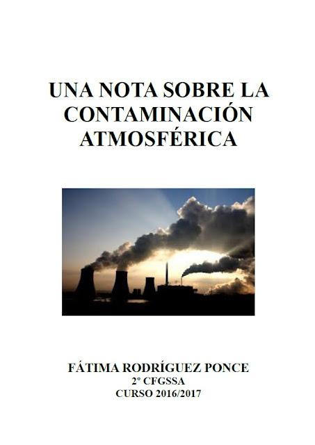 Nota sobre ccontaminación atmosférica