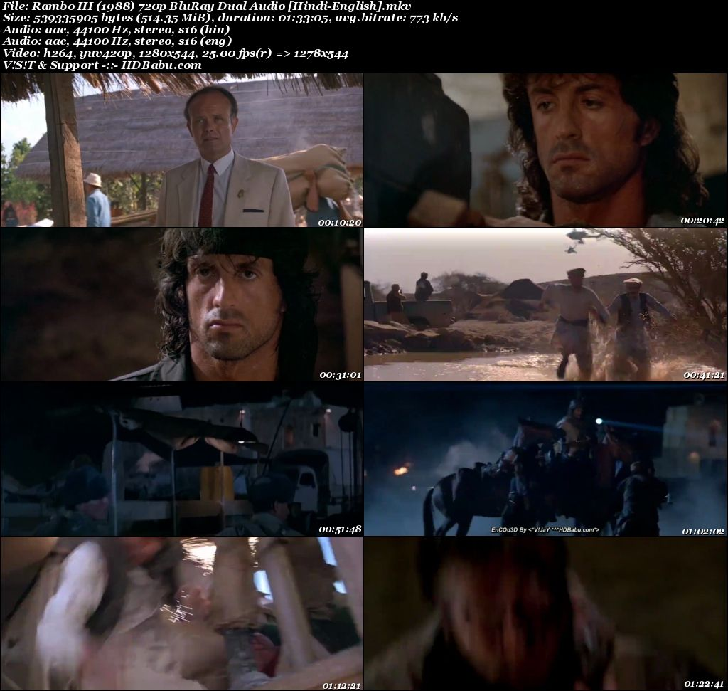 Rambo 1988 Hindi Dual Audio 720p Blu-Ray 500MB Screenshot
