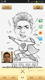 Membuat Foto Sketsa / Karikatur dengan Aplikasi Android - Magic Man Camera - MomentCam Apk
