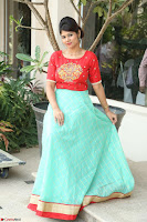Lucky Shree Looks super cute in Bright Red Green Anarkali Dress ~  Exclusive 008.JPG