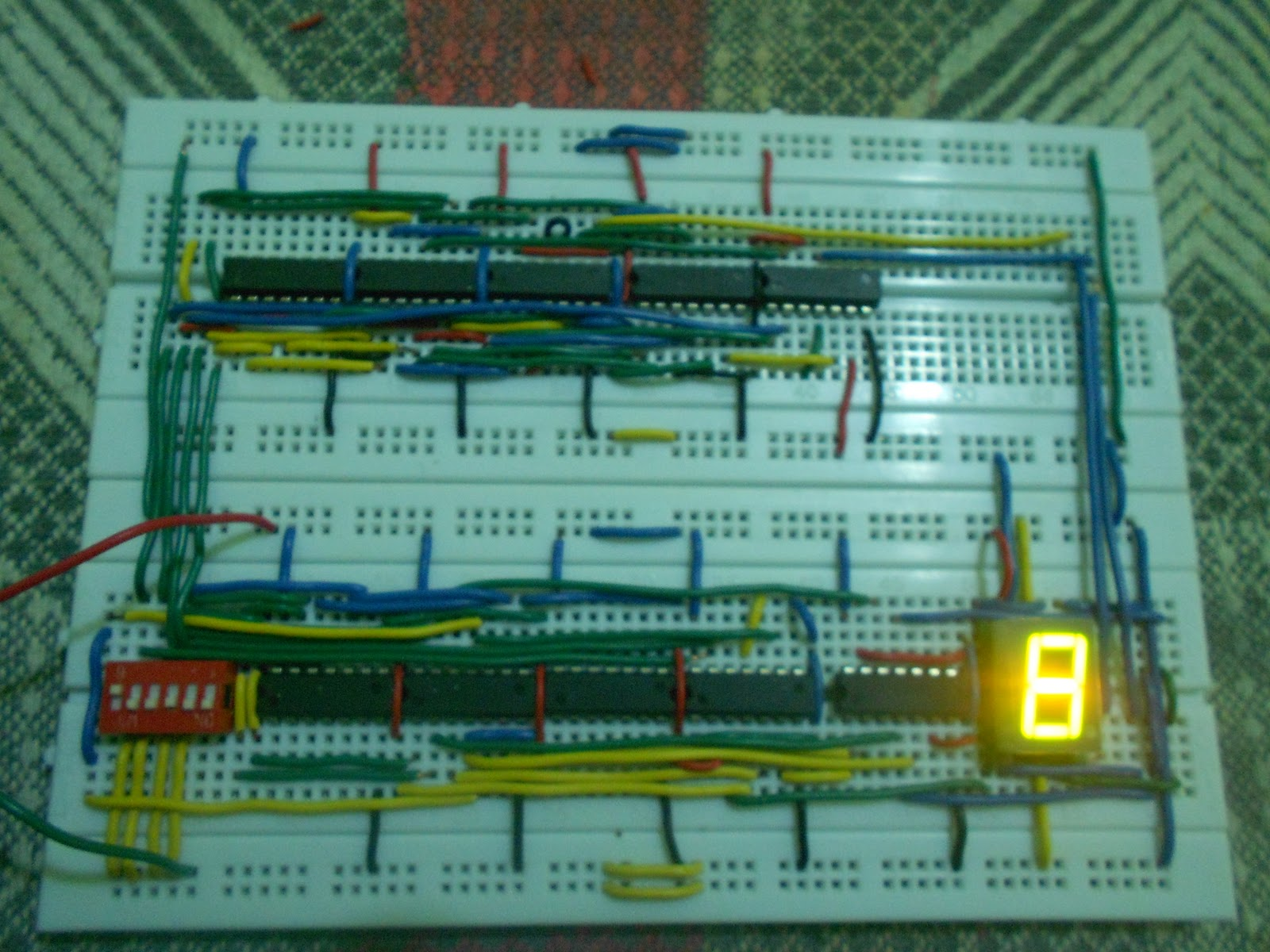 Convert Circuit Diagram To Breadboard Vw Beetle Wiring 1966 Ece Logic The Seven Segment Display