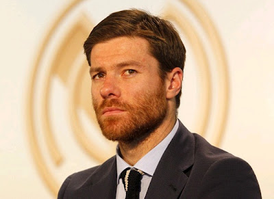 Xabi Alonso in a Real Madrid presentation