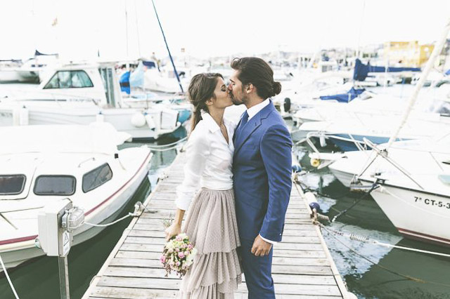 blog boda informal wedding day novia falda plumeti