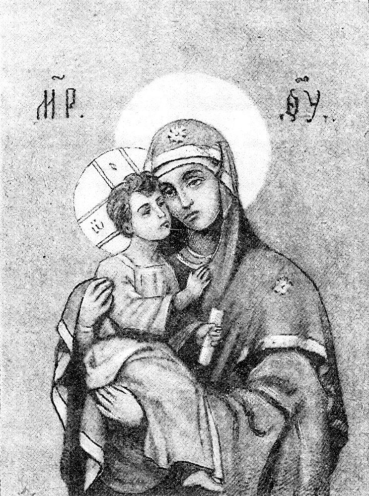 Акафистная Хилендарская икона по С. И. Снессоревой.