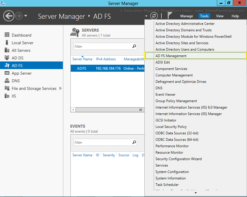 Installing and Configuring ADFS Integration with SharePoint