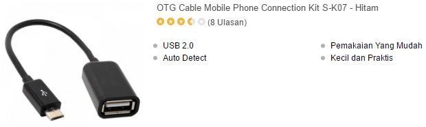 harga kabel usb otg murah