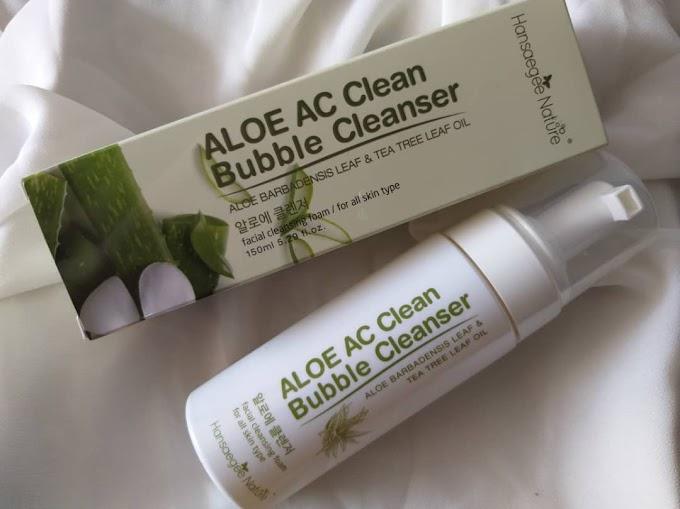 Atasi Masalah Kulit Wajah Kering Dengan  Aloe AC Clean Bubble Cleanser