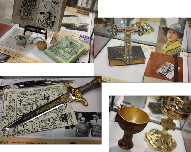 Detalles de la exposición dedicada a Indiana Jones