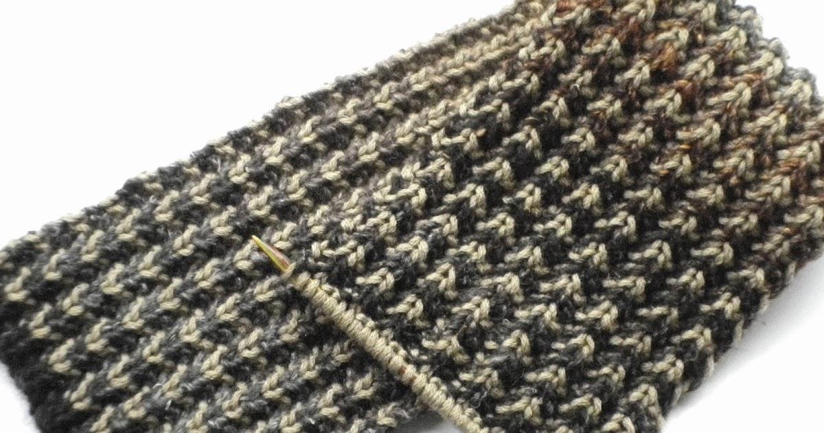 The Wool Nest Bracken Mens Scarf Free Knitting Pattern And
