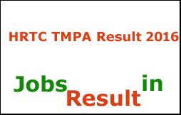 HRTC TMPA Result 2016