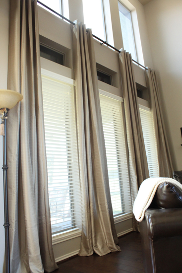Made of Metal: Extra long curtain rods