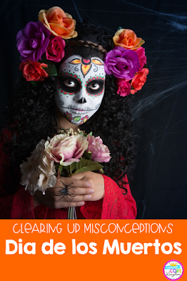 Read about Dia de los Muertos facts and misconceptions to help you with teaching about Day of the Dead. Includes recommended books and an activity for elementary students.