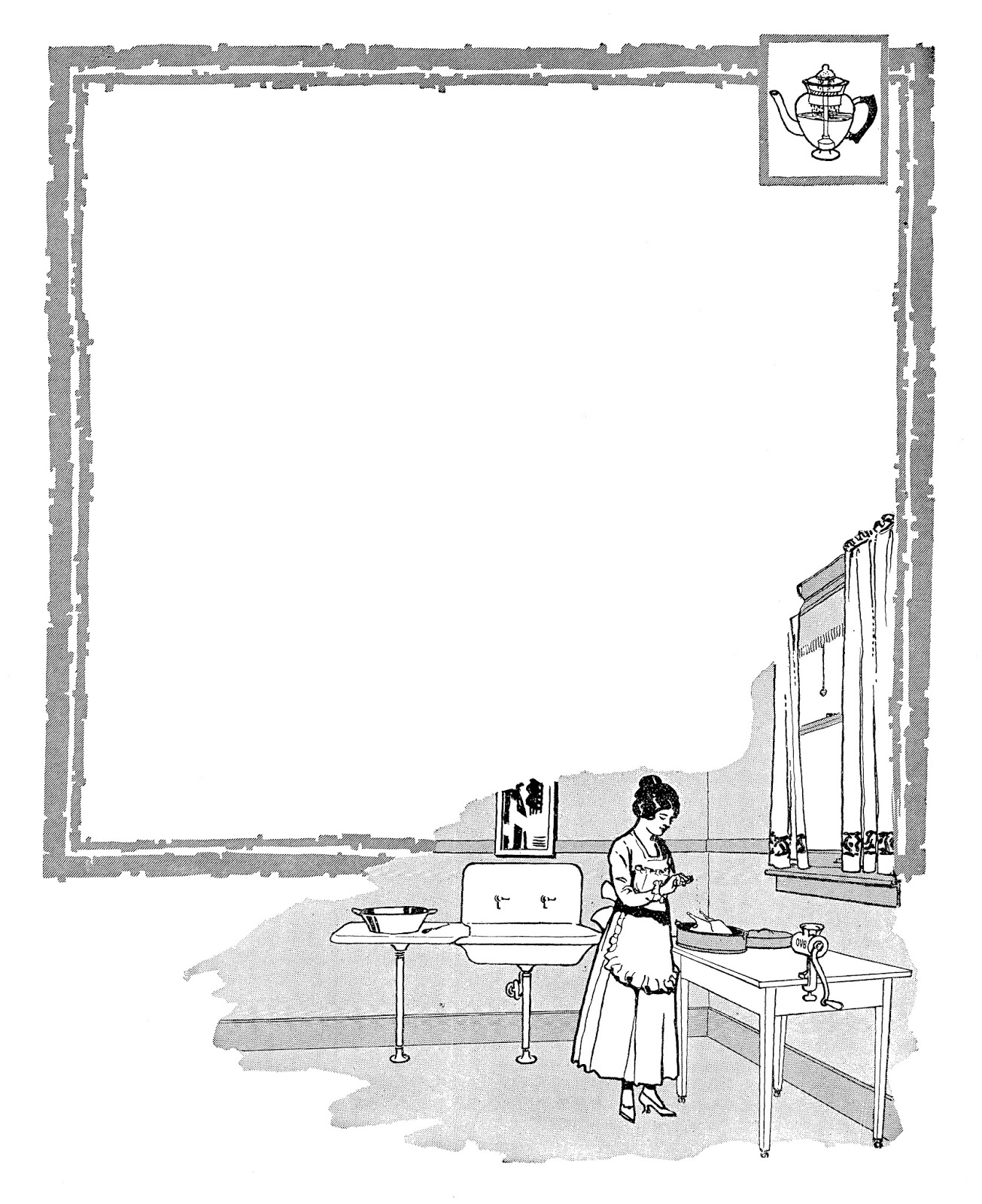 Antique Images: Digital Scrapbooking Vintage Kitchen Frame