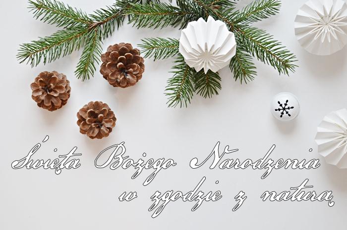 naturalne święta, święta w zgodzie z naturą, naturalne ozdoby świąteczne, szyszki, ozdoby z papieru, naturalne składniki, boże narodzenie dekoracje