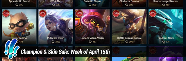 899e0b737 Each week an assortment of skins and champions will be on sale for up to  60% off! Check out this week s sales