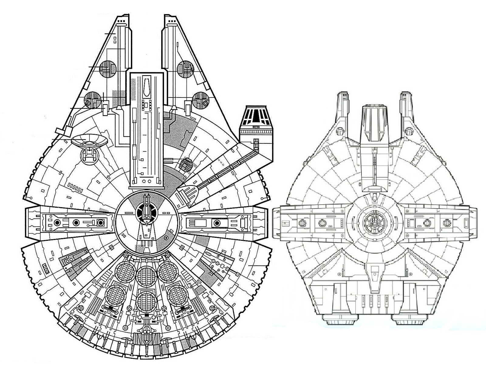 freighter diagrams  gattaca models and props: yt-1000 corellian freighter ... #3