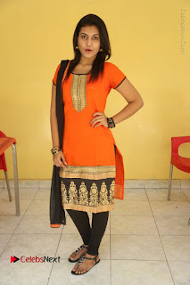 Telugu Actress Chandana Stills in Salwar Kameez at Karam Dosa Movie Press Meet  0107.JPG
