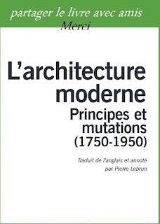 L'architecture moderne Principes et mutations pdf