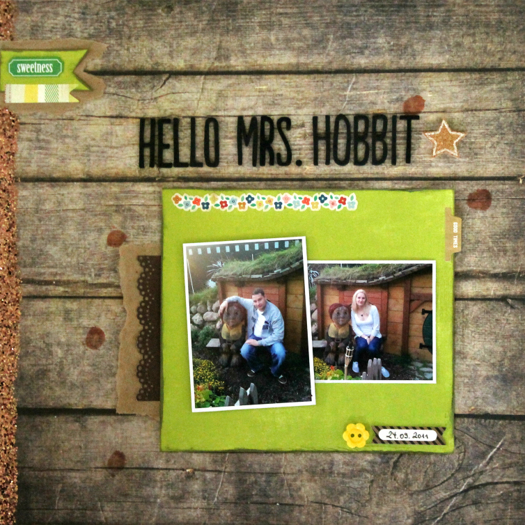 Hello Mrs. Hobbit | Scrapbooking Layout