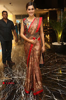 Tapsee Pannu Latest Stills in Red Silk Saree at Anando hma Pre Release Event .COM 0045.JPG