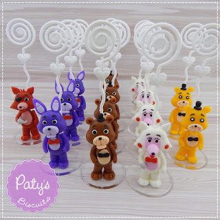 Porta recados Five Nights at Freddy's (FNAF) - Lembrancinhas para festa Infantil - Paty's Biscuit