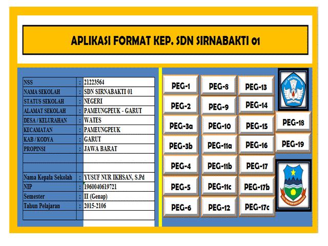 Aplikasi Administrasi Data Guru dan kepala Sekolah Format Excel