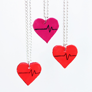 DIY UPCYCLED HEART CHARMS