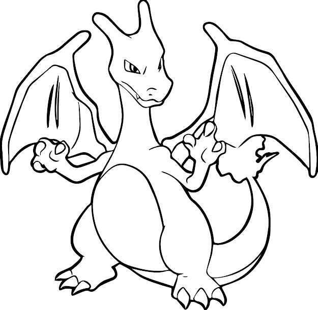 Charizard Coloring Pages With Pokemon Charizard Coloring Pages