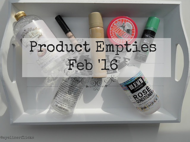 February 2016 Product Empties www.eyelinerflicks.com