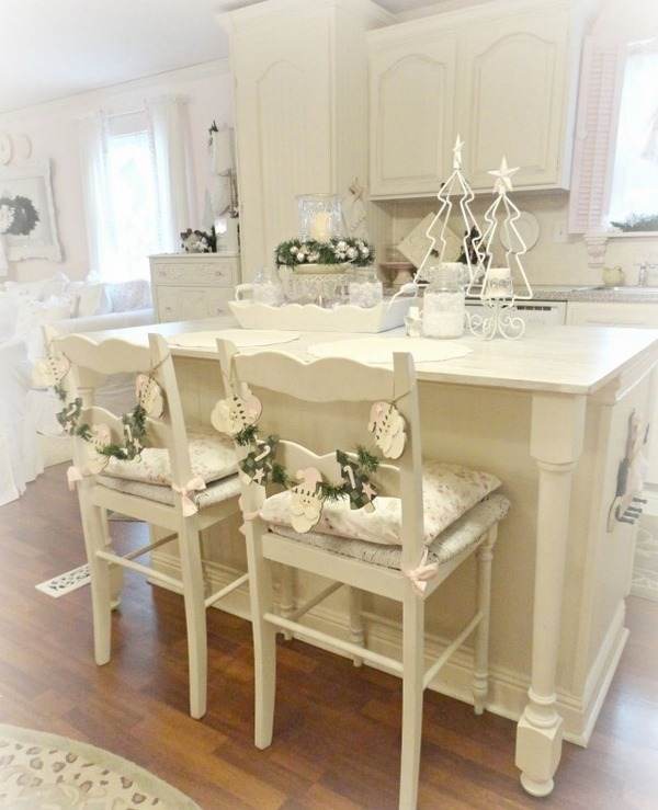 Shabby Chic Kitchen Table Centerpieces: This Cheap Vintage Shabby Chic Style Kitchen Design And