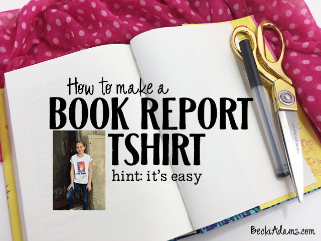 Creative Book Report tShirt by @jbckadams #bookreport #silhouettecameo #heattransfervinyl