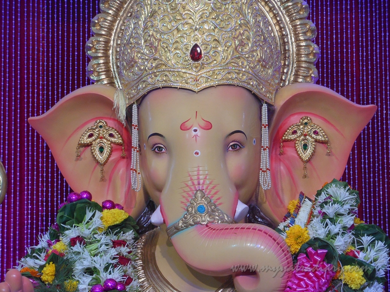 Lovely Ganesha at Andhericha Raja Ganesha pandal, Mumbai